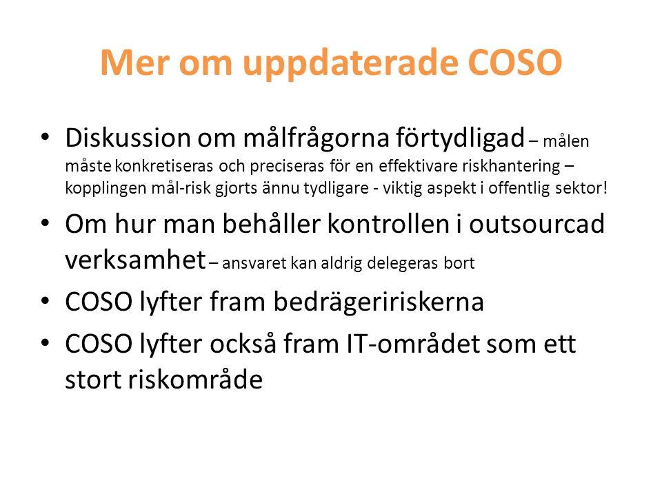 Mer om uppdaterade COSO