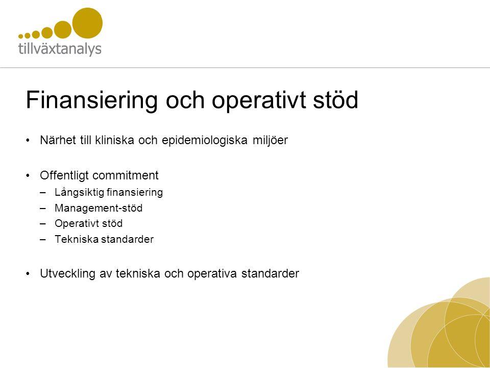 Finansiering och operativt stöd