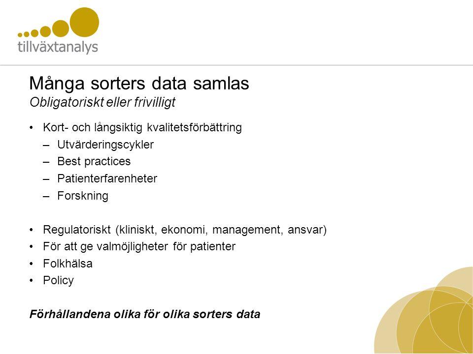 Många sorters data samlas Obligatoriskt eller frivilligt