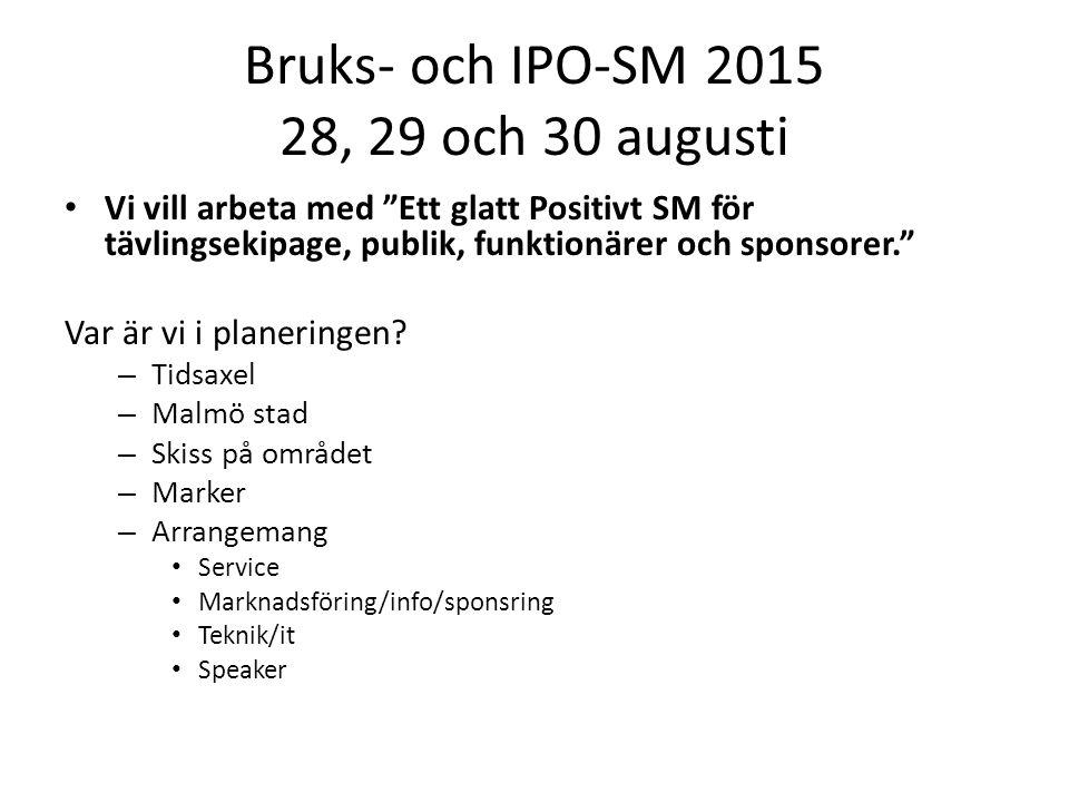 Bruks- och IPO-SM 2015 28, 29 och 30 augusti