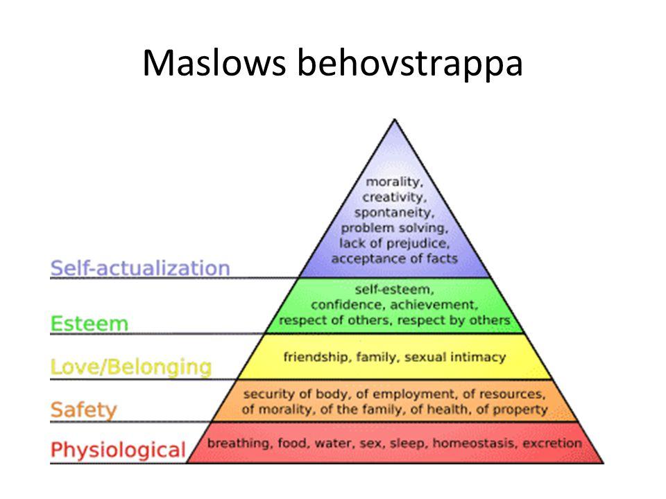 Maslows behovstrappa