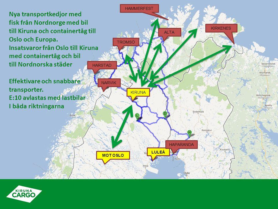Nya transportkedjor med fisk från Nordnorge med bil