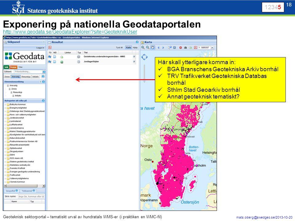 Exponering på nationella Geodataportalen