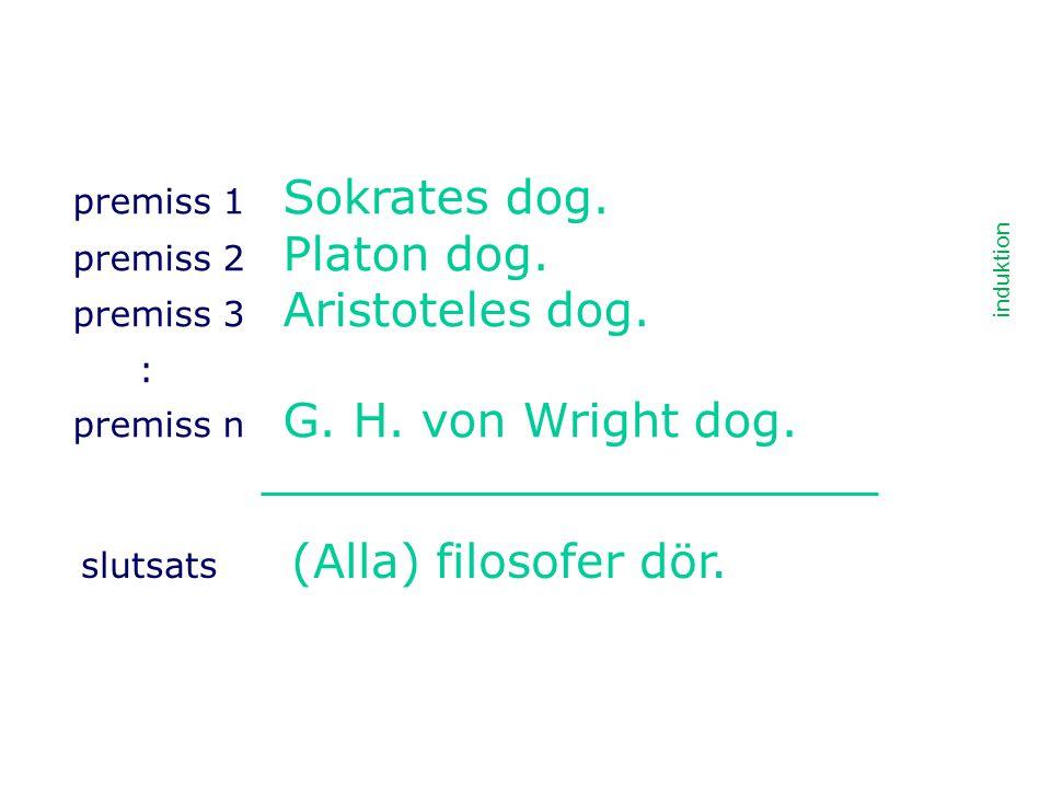 : premiss 1 Sokrates dog. premiss 2 Platon dog.