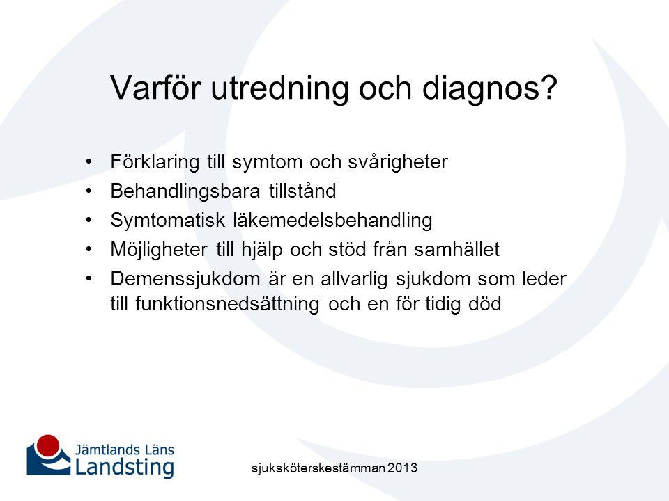 Varför utredning och diagnos
