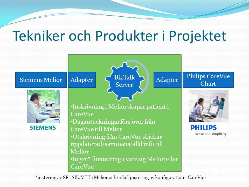Tekniker och Produkter i Projektet