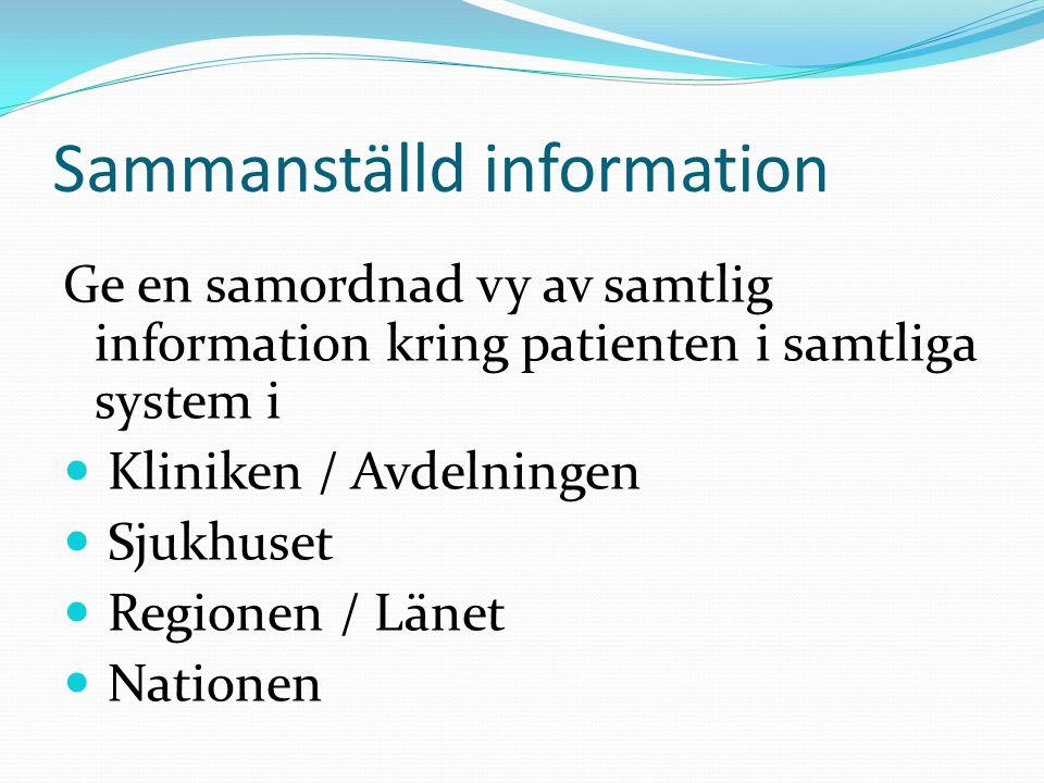 Sammanställd information