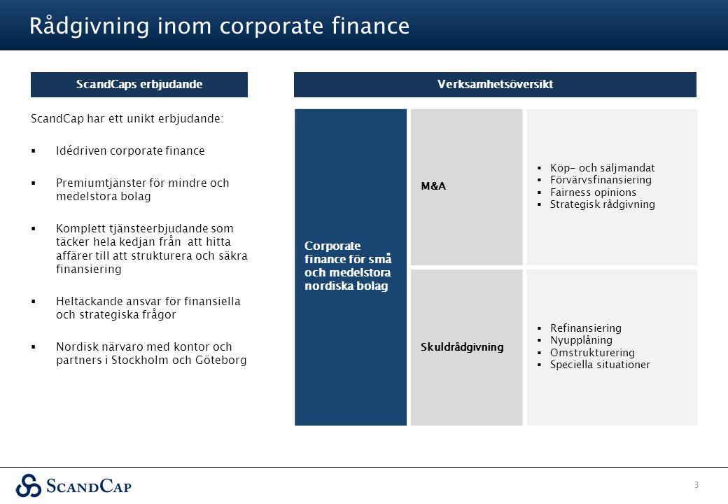 Rådgivning inom corporate finance