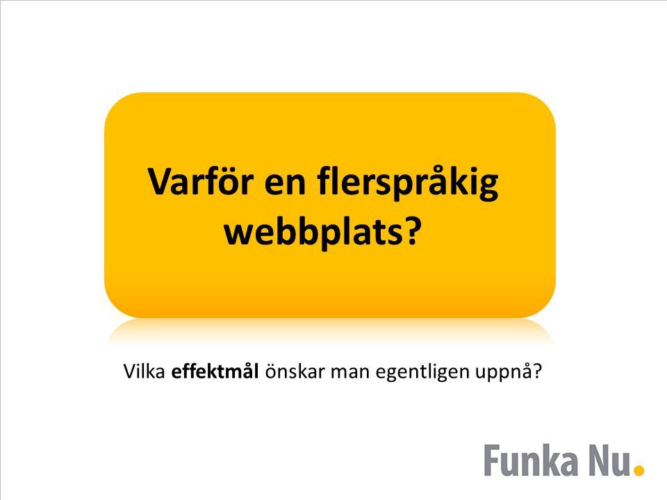Varför en flerspråkig webbplats