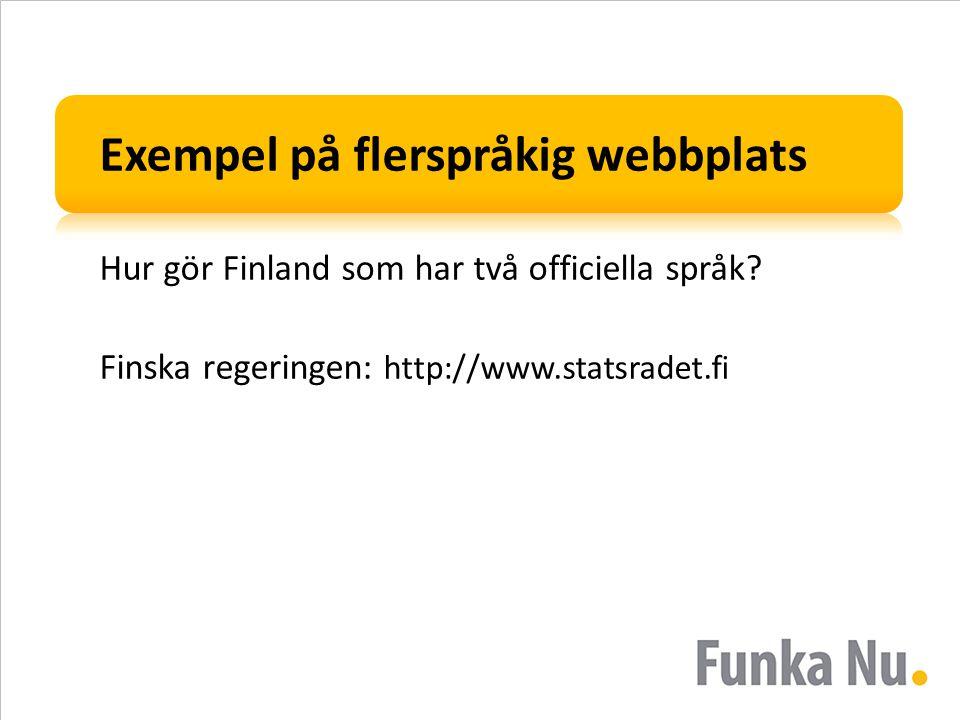 Exempel på flerspråkig webbplats