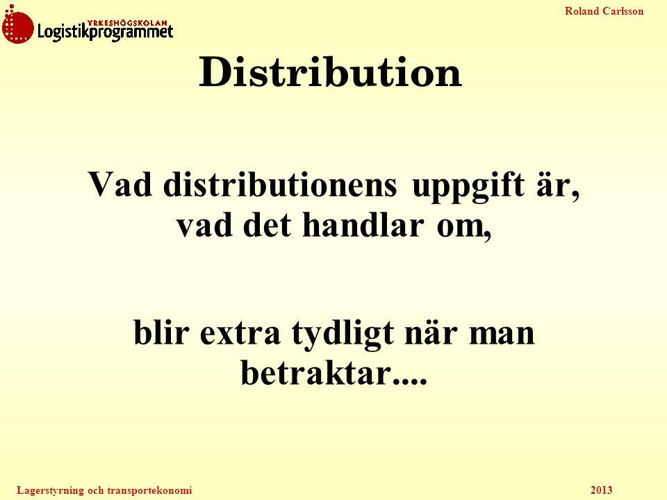 Distribution Vad distributionens uppgift är, vad det handlar om,