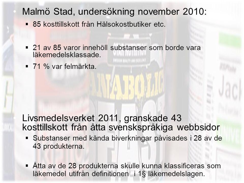 Malmö Stad, undersökning november 2010: