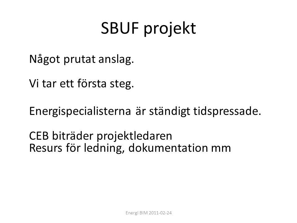 SBUF projekt Något prutat anslag. Vi tar ett första steg.