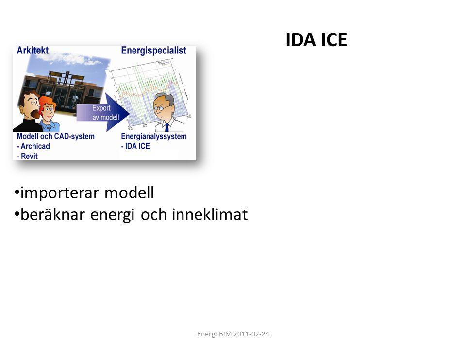 IDA ICE importerar modell beräknar energi och inneklimat