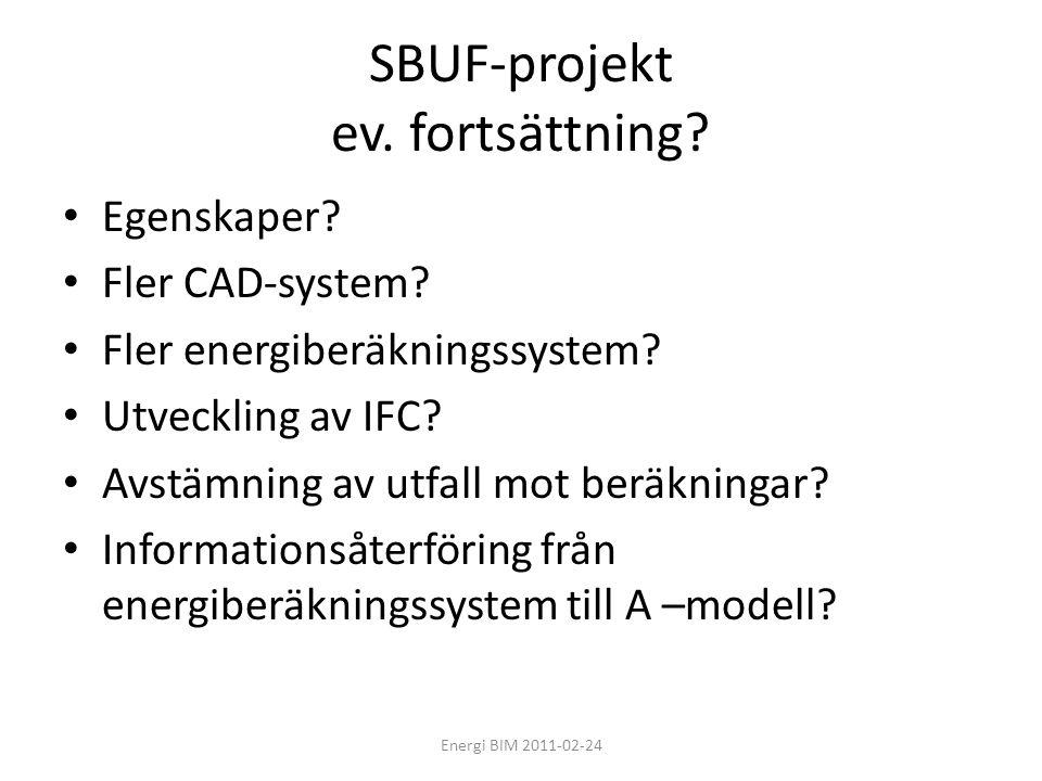 SBUF-projekt ev. fortsättning