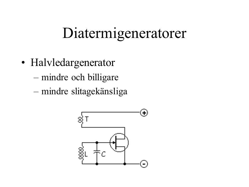 Diatermigeneratorer Halvledargenerator mindre och billigare