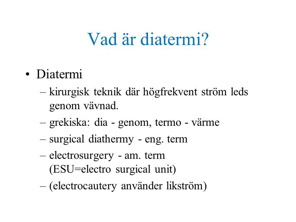 Vad är diatermi Diatermi