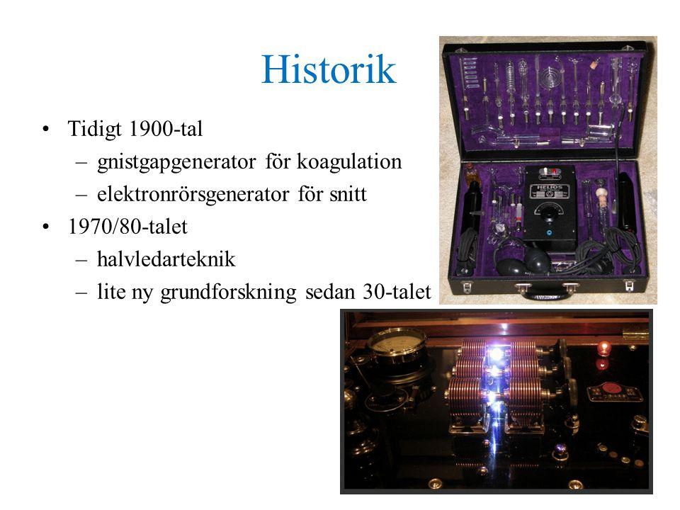 Historik Tidigt 1900-tal gnistgapgenerator för koagulation