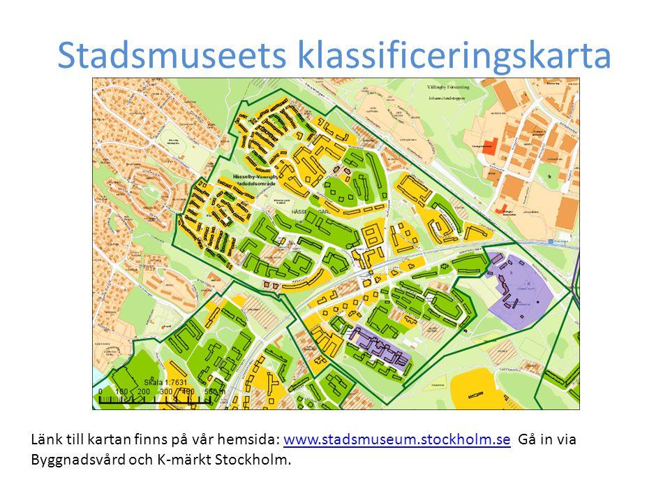 Stadsmuseets klassificeringskarta