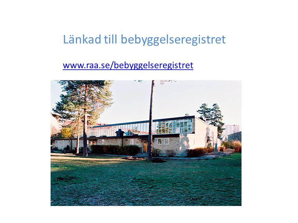 Länkad till bebyggelseregistret