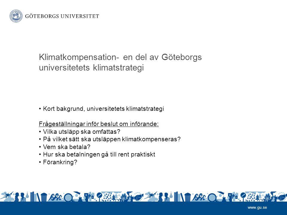 Klimatkompensation- en del av Göteborgs universitetets klimatstrategi