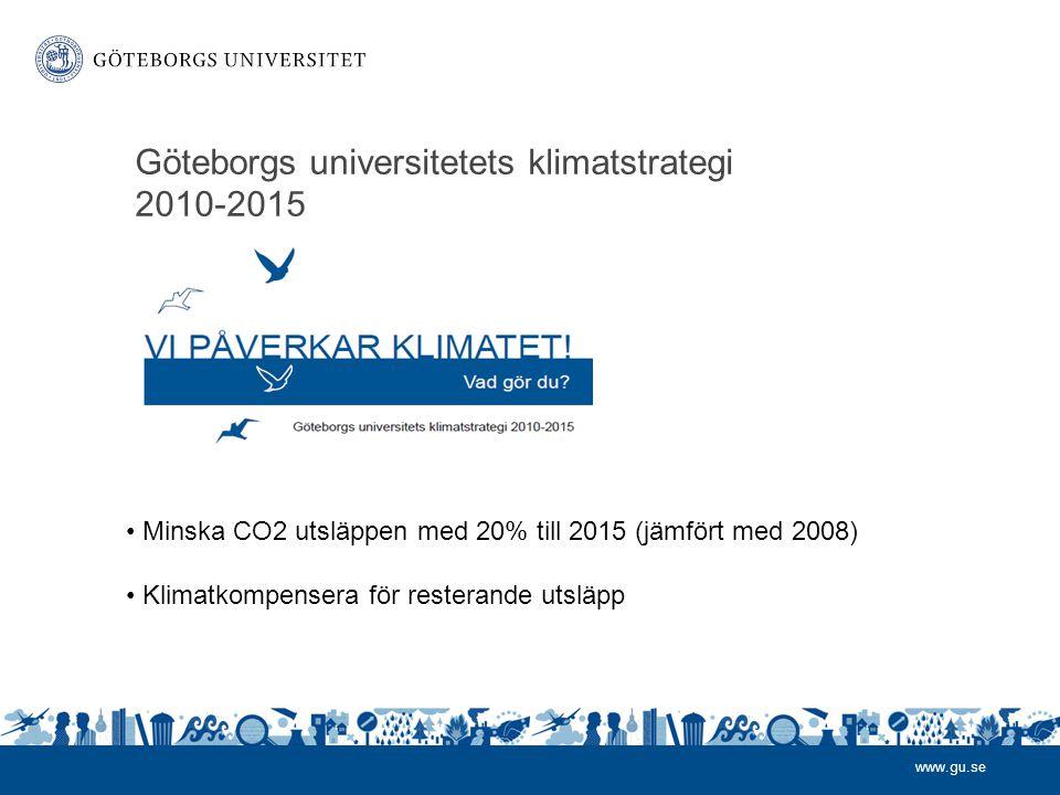 Göteborgs universitetets klimatstrategi 2010-2015