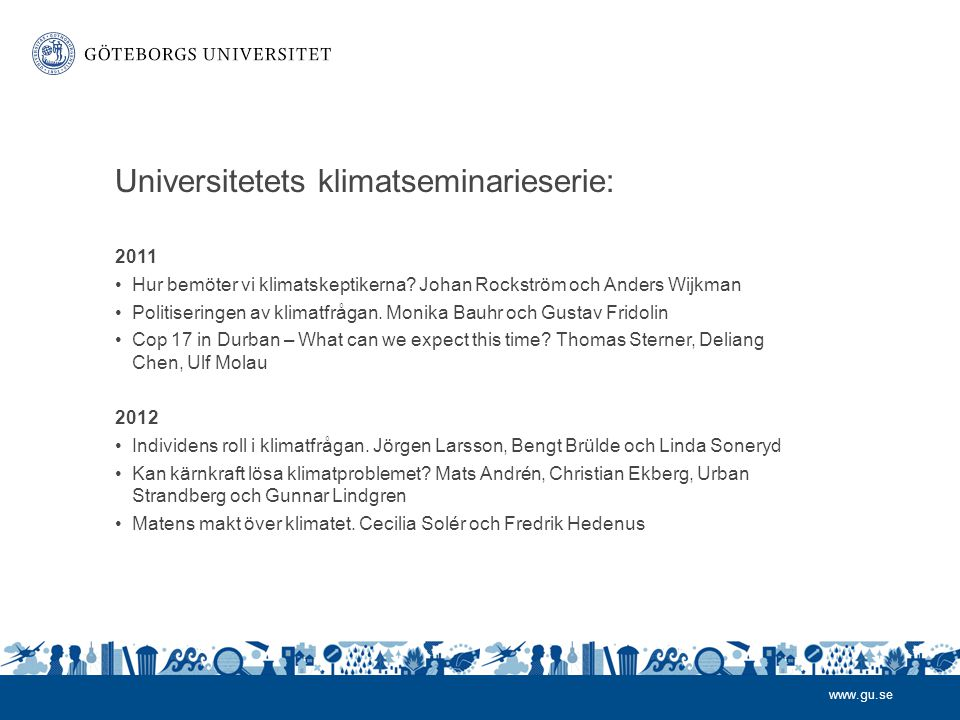Universitetets klimatseminarieserie:
