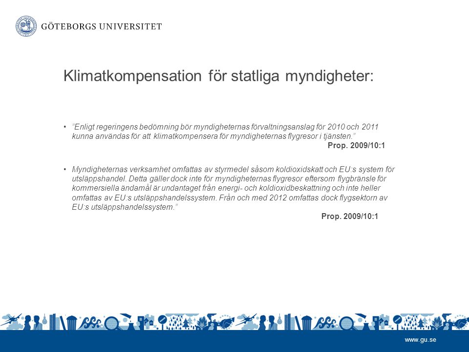 Klimatkompensation för statliga myndigheter: