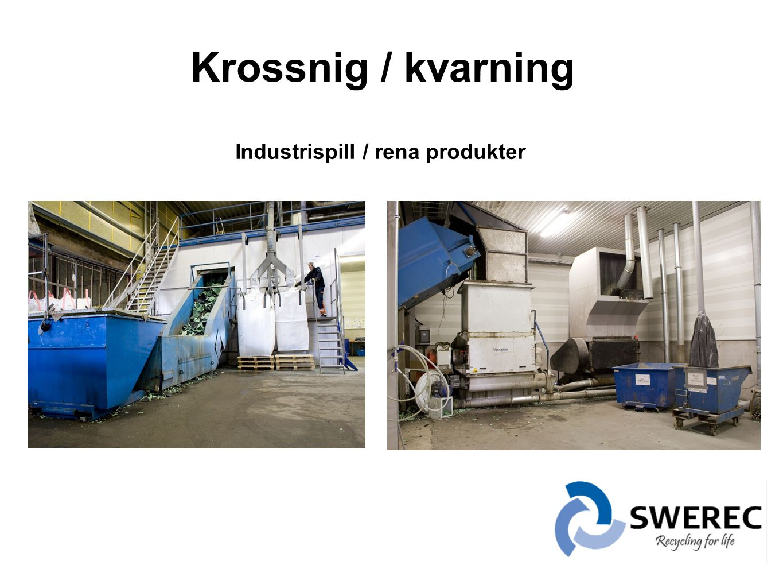 Industrispill / rena produkter