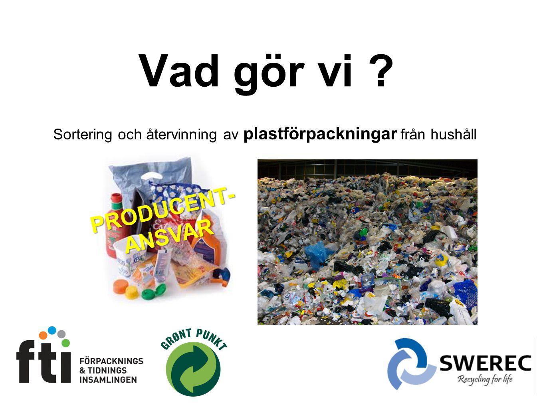 Sortering och återvinning av plastförpackningar från hushåll