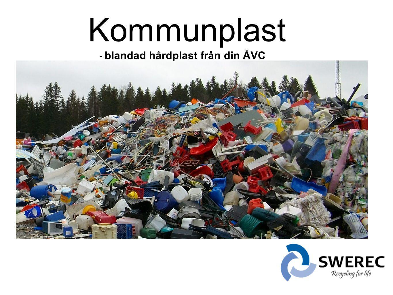 Kommunplast - blandad hårdplast från din ÅVC .