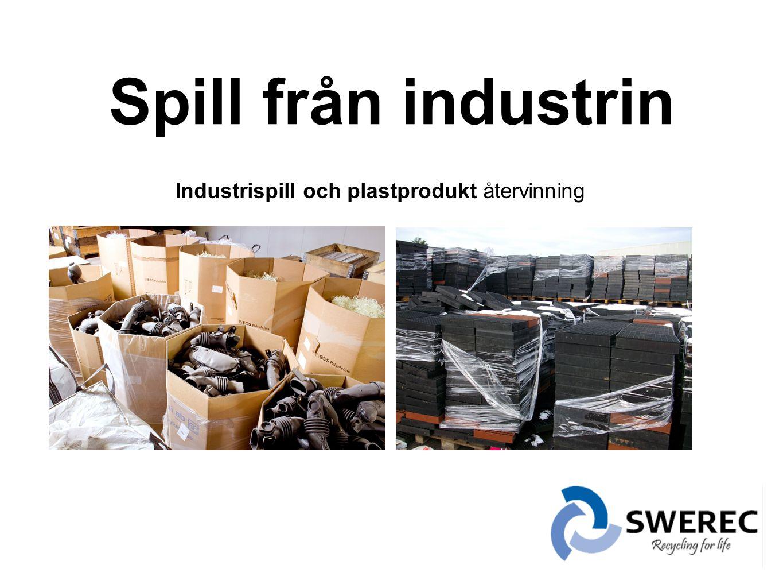 Industrispill och plastprodukt återvinning