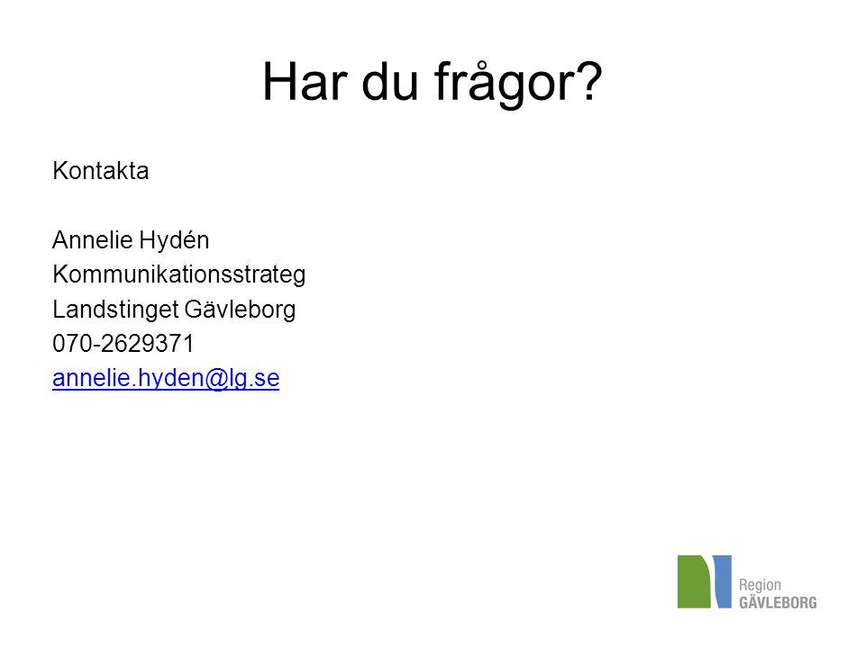 Har du frågor Kontakta Annelie Hydén Kommunikationsstrateg