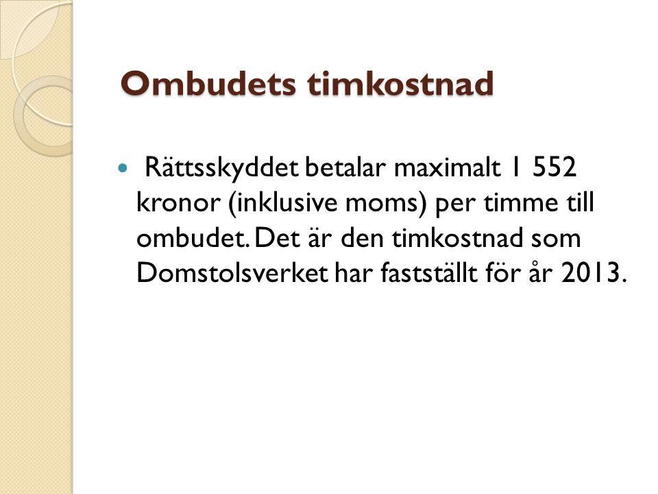 Ombudets timkostnad