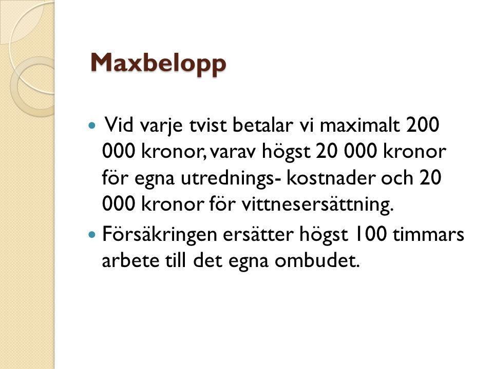 Maxbelopp