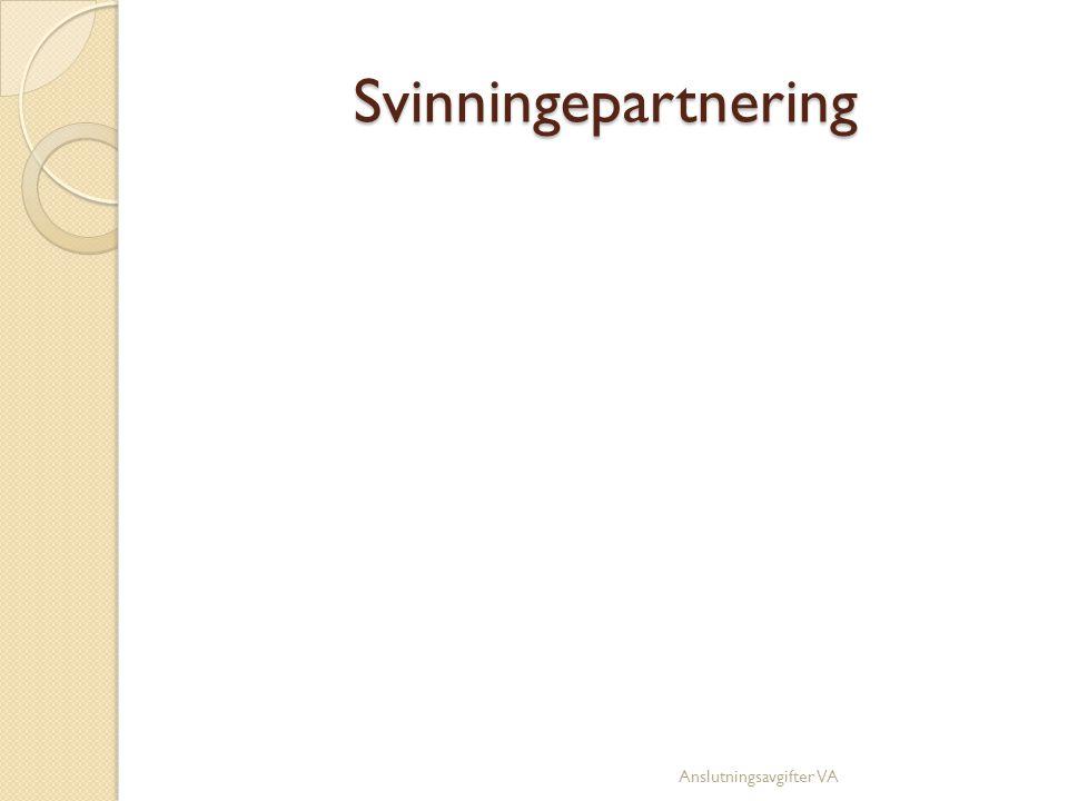 Svinningepartnering Anslutningsavgifter VA