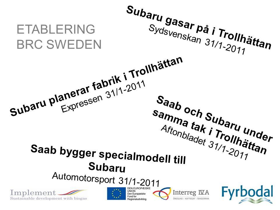 ETABLERING BRC SWEDEN Subaru gasar på i Trollhättan
