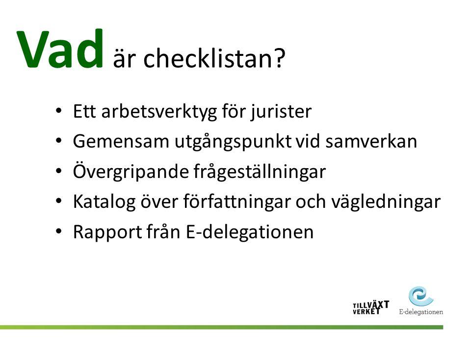 Vad är checklistan Ett arbetsverktyg för jurister