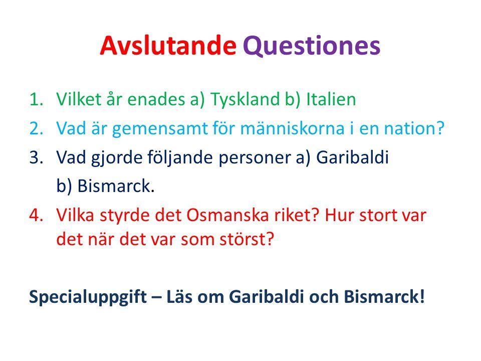 Avslutande Questiones