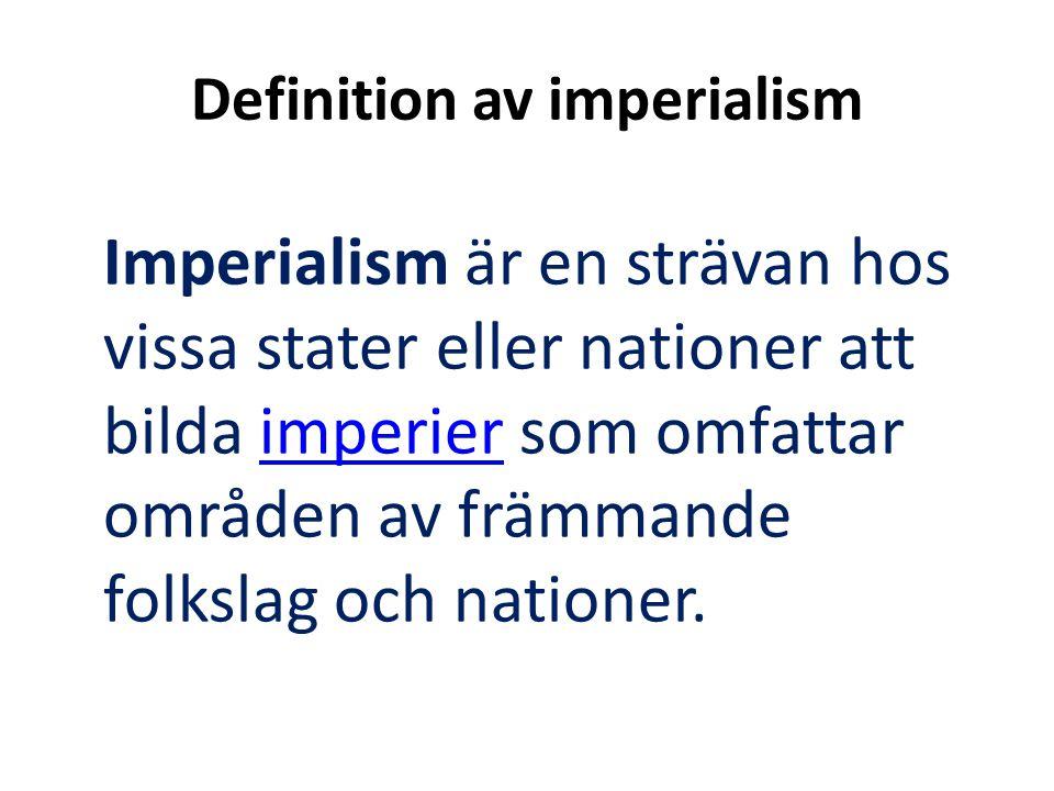 Definition av imperialism