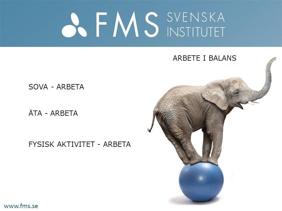 ARBETE I BALANS SOVA - ARBETA ÄTA - ARBETA FYSISK AKTIVITET - ARBETA www.fms.se