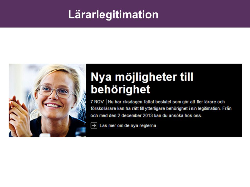 Lärarlegitimation