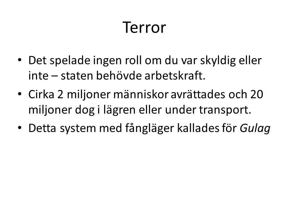 Terror Det spelade ingen roll om du var skyldig eller inte – staten behövde arbetskraft.