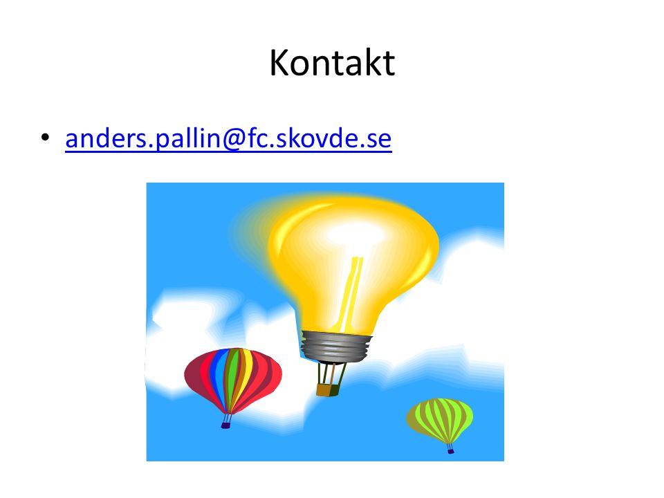 Kontakt anders.pallin@fc.skovde.se