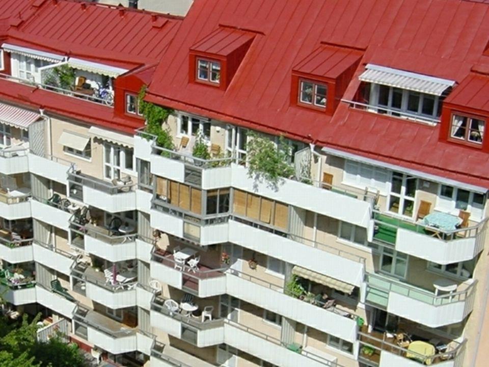 Balkonger och terrasser