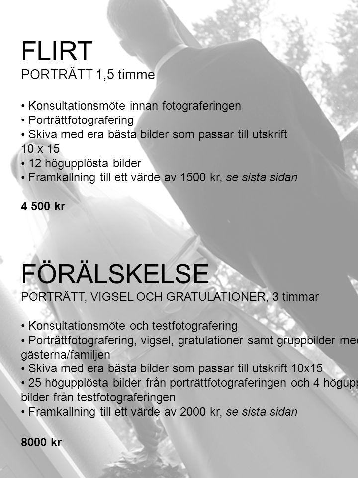 FLIRT FÖRÄLSKELSE PORTRÄTT 1,5 timme