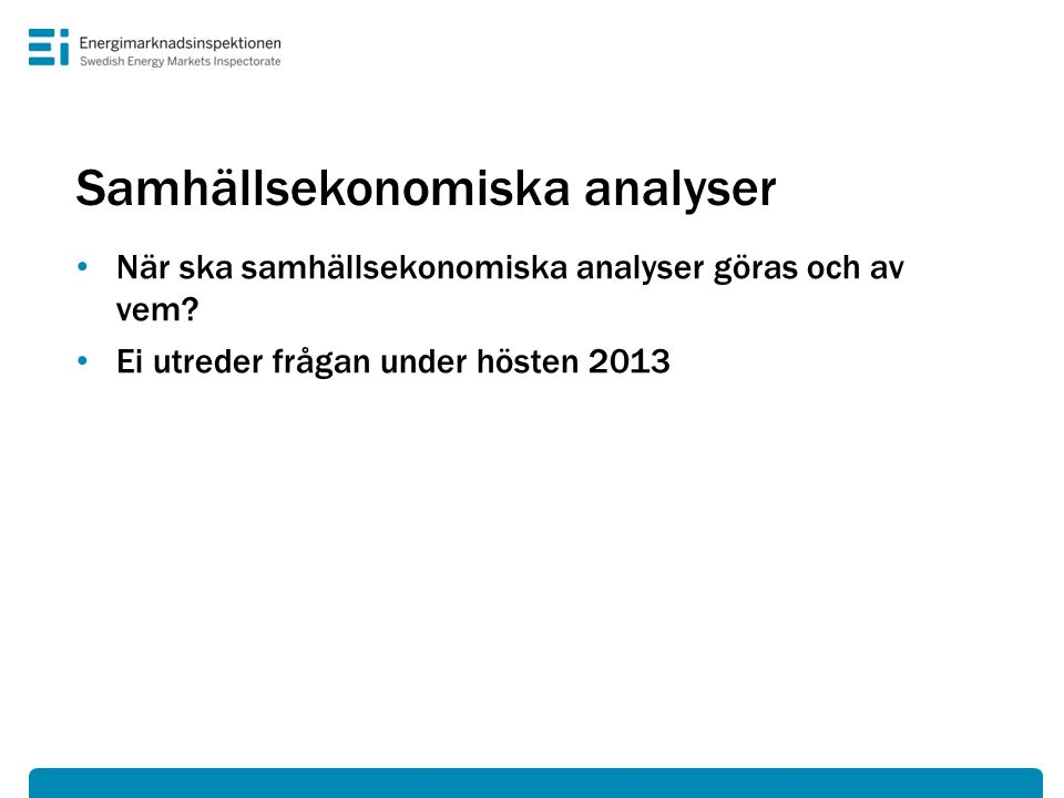 Samhällsekonomiska analyser