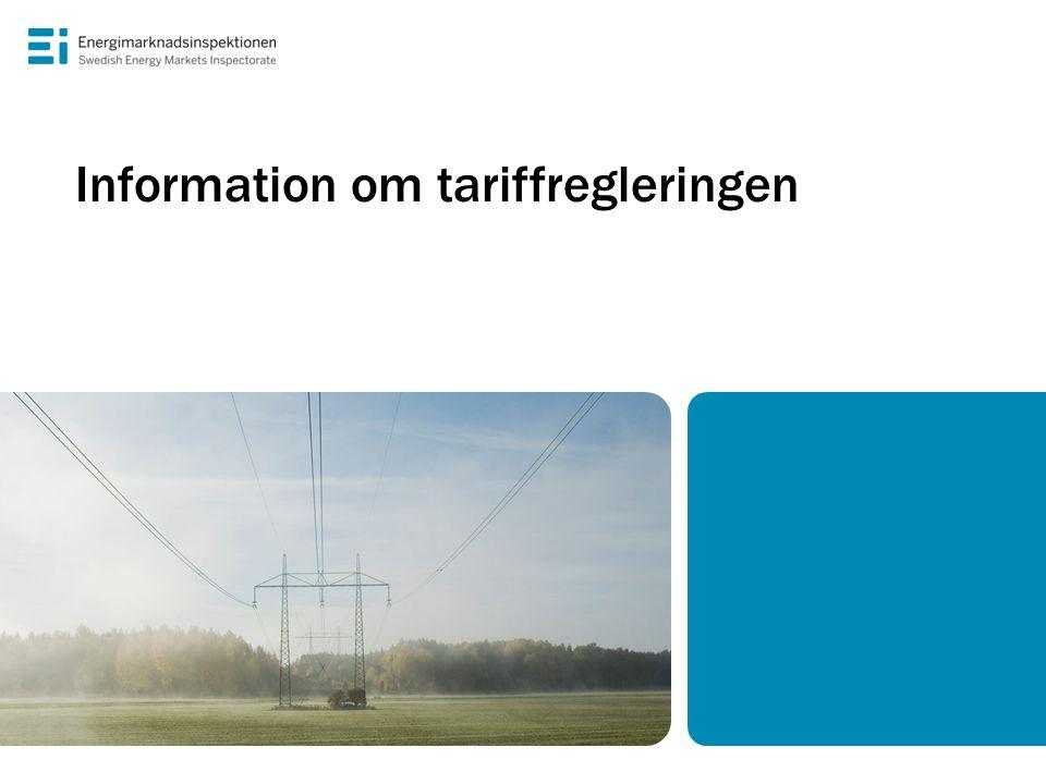 Information om tariffregleringen