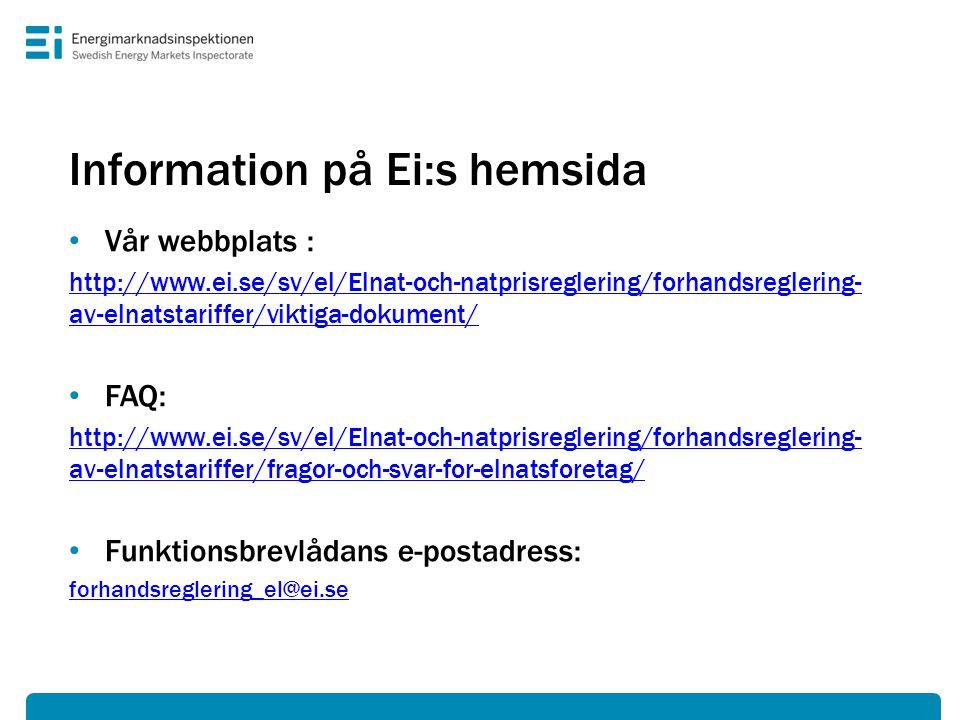 Information på Ei:s hemsida