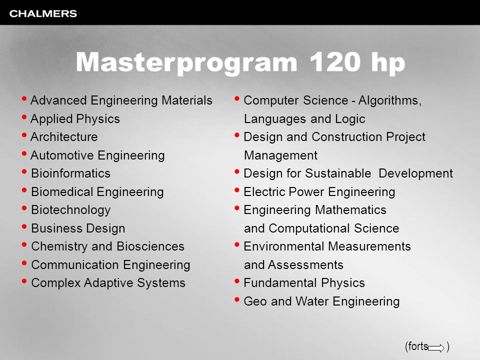 Masterprogram 120 hp Advanced Engineering Materials Applied Physics